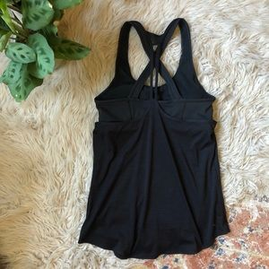 Athleta Black Strappy Workout Top